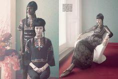 Malaika Firth & Lera Tribel by Sølve Sundsbø for Vogue Italia March 2014 2