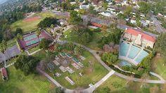 Aerial view of Farnsworth Park in Altadena.