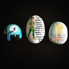 #paintedrocks #paintedstones #paintedpebbles #handpainted #peterpan #tinkerbell…