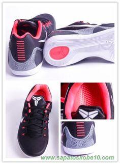 """venda de tenis online Masculino Nike Kobe 9 Elite Preto/Branco-Carmesim Laser-lobo cinzento 646701-001 """"Carmesim Laser"""""""