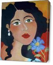 Cornflower Blues As Canvas