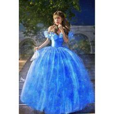 Alibaba グループ | AliExpress.comの ドレス からの   ハロー!店へようこそ!品質は最初で最高のサービス。お客様は私たちの友人。ファッションデザイン、100%ブランドの新しい、高品質!素材:チュールカラー:ブルースタイル:セクシークラブイブニングパーティーカジュアルサ 中の 2015 New Movie Scarlett Sandy Princess Dress blue Cinderella Costume Adult girls