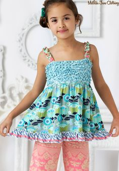 Happy and Free, Summer 2016: Funhouse Tunic and Sugar Rush Cropped Ruffles
