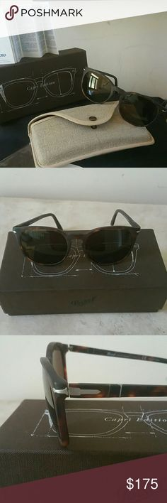 Persol Men's Sunglasses Authentic - One of the oldest Italian Eyewear houses. Is globally distinguished by its silver arrow trademark. Handmade.  Each pair crafted with highest quality of material and expertise that offer complete protection from the suns harmful rays. New in box with case and papers. Persol Accessories Sunglasses