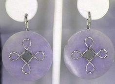 lavender jade Martin Katz earrings