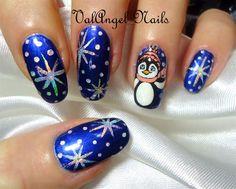 """Nail art """"Pinguino""""  - Nail Art Gallery nailartgallery.nailsmag.com by NAILS Magazine nailsmag.com"""