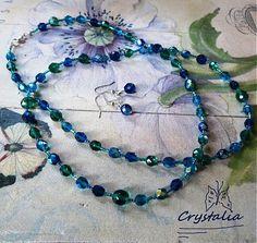 crystalia / Bermuda Blue ... necklace + earrings