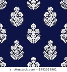 Pattern Design Drawing, Textile Pattern Design, Motif Design, Textile Patterns, Pattern Art, Print Patterns, Stencil Patterns, Indian Embroidery Designs, Folk Embroidery