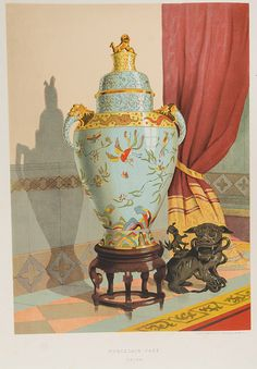 World's Fair of 1876 : Chinese Vase illustrated in Charles Norton, Treasures of Art, Industry and Manufacture, Art Industry, Ancient Greek Words, Exhibition Building, Architectural Antiques, World's Fair, French Artists, Art Museum, Philadelphia, Sculptures