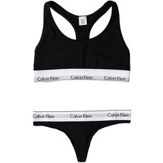 Modern Cotton Thong Set ($43) ❤ liked on Polyvore featuring intimates, underwear, lingerie, bras, calvin klein, cotton lingerie and calvin klein lingerie