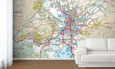 Create your own Ordnance Survey Explorer Map Wallpaper, custom printed to your exact wall dimensions, you can make an eye catching feature of any wall. Map Wallpaper, Custom Wallpaper, Explorer Map, Ordnance Survey Maps, Colored Ceiling, Flat Ideas, Ceiling Tiles, Lake District, Beautiful Homes