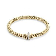 Fope Fope 18ct Yellow Gold Wild Rose Bracelet - Small Image