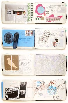 Fabulous Drawing On Creativity Ideas. Captivating Drawing On Creativity Ideas. Artist Journal, Artist Sketchbook, Sketchbook Pages, Art Journal Pages, Art Journals, Journal Notebook, Fashion Sketchbook, Moleskine, Collages