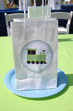 train party-gift bag idea