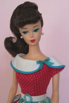 Vintage Barbie Doll Dress Reproduction Repro Barbie Clothes by Eggie on eBay http://www.ebay.com/itm/121641711931