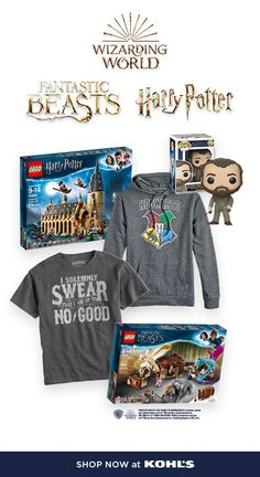 Calling all muggles! Kohl's is the place to go for all your favorites from the Wizarding World of Harry Potter. From Fantastic Beasts™ LEGO sets and Funko POP! figures to Harry Potter tees and Hogwarts™ hoodies, you'll find everything you're looking for— and you can get it all before Fantastic Beasts: The Crimes of Grindelwald hits theaters on 11/16. #harrypotter #fantasticbeasts #wizardingworld Harry Potter Love, Harry Potter World, Harry Potter Hogwarts, Harry Potter Memes, Crimes Of Grindelwald, Fantastic Beasts And Where, Pop Figures, Lego Sets, Funko Pop