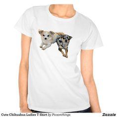 Cute Chihuahua Ladies T Shirt