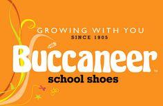 Buccaneer School Shoes - Branding. www.fusiondesign.co.za