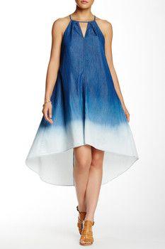 ECI Halter Ombre Trapeze Dress