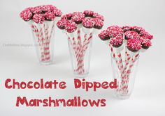 Chocolate dipped marshmallows - Valentine's Day