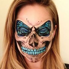 Awesome Butterfly and Skull Halloween Makeup. Awesome Butterfly and Skull Halloween Makeup. Awesome Butterfly and Skull Halloween Makeup. Awesome Butterfly and Skull Halloween Makeup. Helloween Make Up, Horror Make-up, Butterfly Makeup, Butterfly Face, Butterfly Fashion, Butterfly House, Butterfly Wings, Sugar Skull Makeup, Skull Face Makeup
