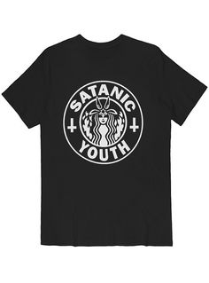 Satanic Youth Parody Tee White on Black$34.00 – Killer Condo