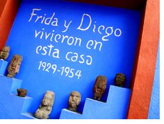 Frida's Blue House Museum, Mexico City. I just love this place. Freida was such an inspirational person.