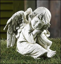Prayerful Angel Garden Figurine