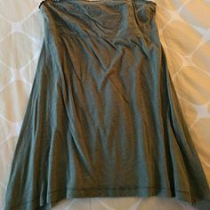 American Eagle boho tube top M Soft and flowy sage green top with embroidery detail up top and cute uneven hem at the bottom. Smocked back part. American Eagle Outfitters Tops Tank Tops