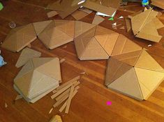 Cardboard Play Dome : 9 Steps (with Pictures) - Instructables Cardboard Houses For Kids, Cardboard Crafts Kids, Cardboard Playhouse, Diy Playhouse, Paper Crafts, Cardboard Tubes, Cardboard Fireplace, Fireplace Furniture, Bedroom Furniture