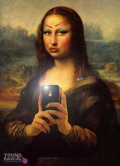 mona lisa cartoons | Old Masters remastered par Young Rascal | Chasseurs de…