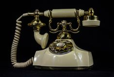 Antique telephone, rotary dial,
