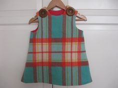 Upcycled Wool Blanket Dress for Rosie