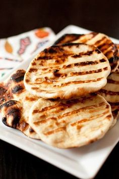 Delicious garlicky naan bread, the perfect side to any curry.