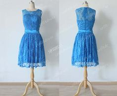 royal blue bridesmaid dress lace bridesmaid dresses by sofitdress, $129.00