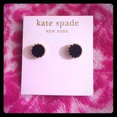 Kate Spade  Black & Gold Studs Brand new - Kate Spade Black & Gold Studs - Perfect Condition kate spade Jewelry Earrings