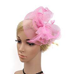 c1a78291938f Chapeau Bibi Élégant Avec Bandeau Et Pince à Cheveux Avec Plumes Voilette  Pour Cérémonie Mariage Femme