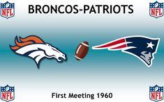 1960, National Football League (1st BRONCOS-PATRIOTS), Denver Broncos < > New England Patriots #Broncos #Patriots #NFL (L24340) Denver Broncos, Nfl Broncos, Football Rivalries, Sports Logos, National Football League, New England Patriots, Logo Design, National Soccer League