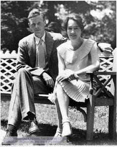 Aviators ©: American Aviator Charles A. Lindbergh with his wife, Anne Morrow Lindbergh at home at Next Day Hill, NJ, [The Manuscripts and Archives Digital Images Database (MADID)] Anne Morrow Lindbergh, Charles Lindbergh, American Crime, American History, Image Database, Dapper Dan, Famous Faces, Real People, St Louis