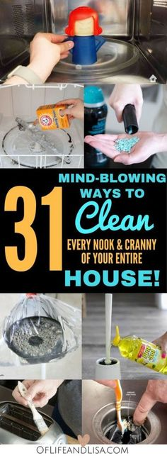House Cleaning Tips and Tricks That Will Blow Your Mind Clean every nook and cranny of your house with these amazing house cleaning tips and tricks.Clean every nook and cranny of your house with these amazing house cleaning tips and tricks. Deep Cleaning Tips, House Cleaning Tips, Natural Cleaning Products, Cleaning Hacks, Diy Hacks, Cleaning Schedules, Cleaning Checklist, Cleaning Recipes, Clean House Tips