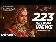 Presenting the first song 'Ghoomar' from the upcoming Bollywood movie Padmaavat. The song is sung by Shreya Ghoshal and Swaroop Khan. Lyrics by A M Turaz and Rajasthani Lyrics by Swaroop Khan. Featuring Deepika Padukone and Shahid Kapoor. Hindi Movie Song, Movie Songs, Hindi Movies, Bollywood Music Videos, Latest Bollywood Songs, Padmavati Movie, Indian Wedding Songs, Film Fantastic, Sanjay Leela Bhansali