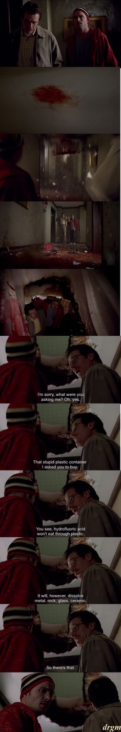 So there's that. -Walt The scene to blame why I got hooked.  #BreakingBad