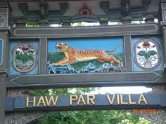 Haw Par Villa (Tiger Balm Garden)...one of the wildest tourist attractions in Singapore. Built in 1937, it tells stories of Chinese mythology, legends, and values with larger-than-life sized statues.