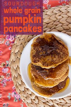 How to make the best sourdough pumpkin pancakes. Use your sourdough starter and whole wheat pastry flour for this whole grain recipe. Healthy pumpkin spiced treat for weekend brunch or freezer-friendly breakfast meal prep! Oat Pancakes, Pumpkin Pancakes, Sourdough Pancakes, Buttermilk Recipes, British Baking, Healthy Pumpkin, Baking Recipes, Healthy Recipes, Pumpkin Pie Spice