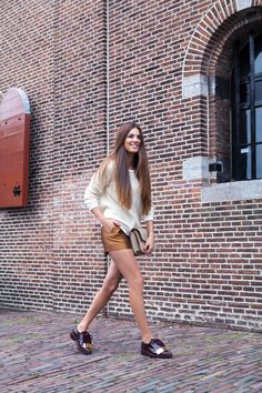 Fall appropriate with Copper colored shorts