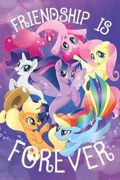 Bring some magic into the everyday with My Little Pony! This maxi poster features all your favourites - Twilight Sparkle, Rainbow Dash, Applejack, Rar. My Little Pony Party, My Little Pony Fotos, My Little Pony Poster, Dessin My Little Pony, Imagenes My Little Pony, My Little Pony Birthday, My Little Pony Pictures, Mlp My Little Pony, My Little Pony Friendship