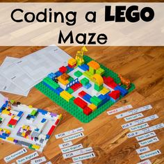 Coding a LEGO Maze - or creating the directions to open a lock!  From Research Parent Link: researchparent.com/coding-a-lego-maze/