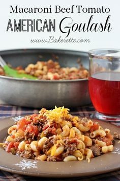 This classic American goulash recipe is a hearty meal that will warm your soul and fill your tummy. Bakerette.com