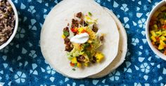 This week's America Makes Dinner recipe is from Peyton List - it's beef and bean soft tacos with mango salsa.