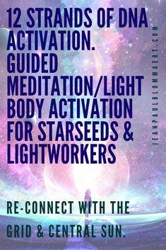 Experience a moment of Re-Uniting with your Light-body while traveling to the Earth Grids for receiving and Uniting with the Cosmic Rays from the Central Sun for 12 Strands of DNA Activation. Spiritual Practices, Spiritual Life, Spiritual Growth, Spiritual Awakening, Healing Meditation, Guided Meditation, Spirit Science, Life Science, Self Actualization
